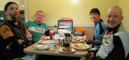 At the IHOP (photo by Andrea Matney)